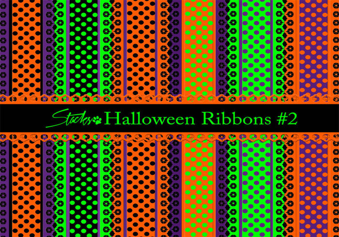 Halloween Ribbons Patterns #2