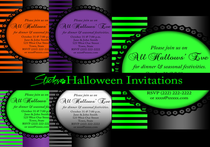 Halloween Invitation Templates  Free Photoshop Templates At Brusheezy