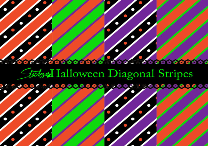 Motifs De Rayures Diagonales D'Halloween photoshop Halloween-diagonal-stripe-patterns