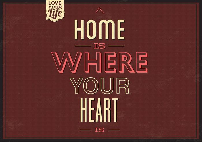 Home is waar je hart PSD Background Two is