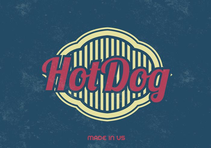 Vintage Hot Dog PSD Background