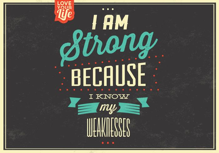 I am Strong PSD Background