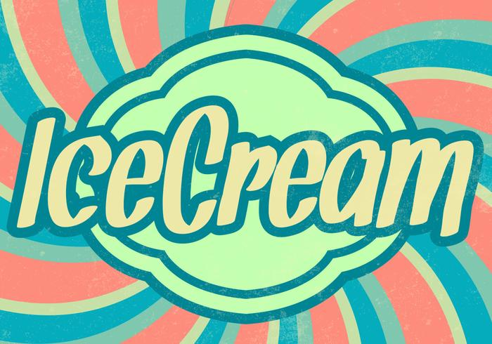 Sunburst Ice Cream PSD Background
