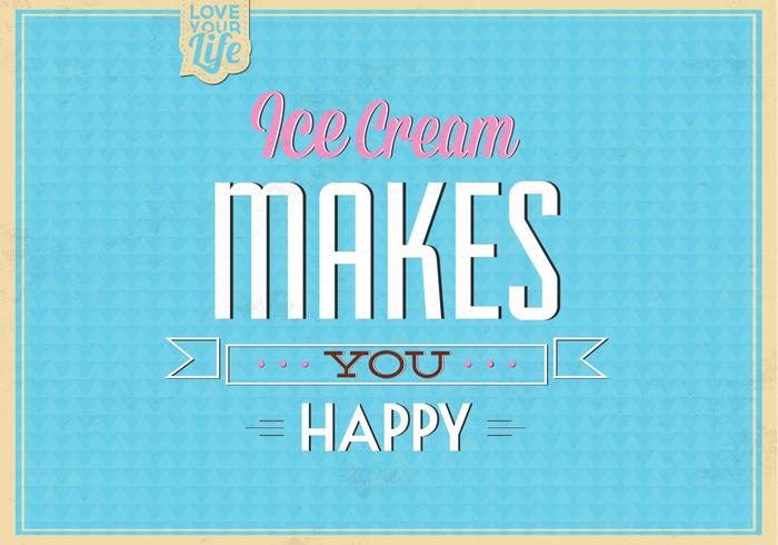 Ice Cream Makes You Happy PSD Background
