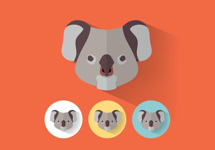 Koala PSD-porträtt