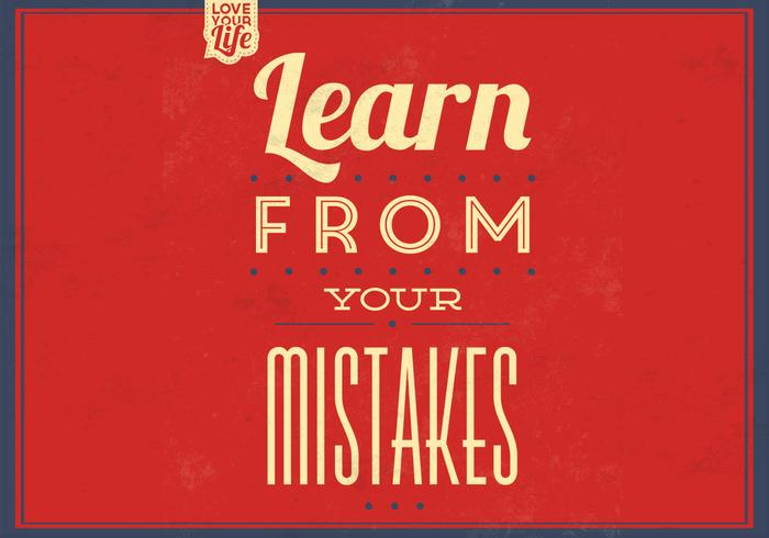 Learn From Your Mistakes PSD Background