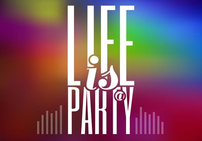 Het leven is een PSD-achtergrond van de partij