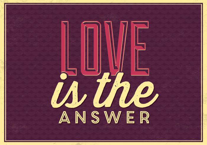 Love is the Answer PSD Background
