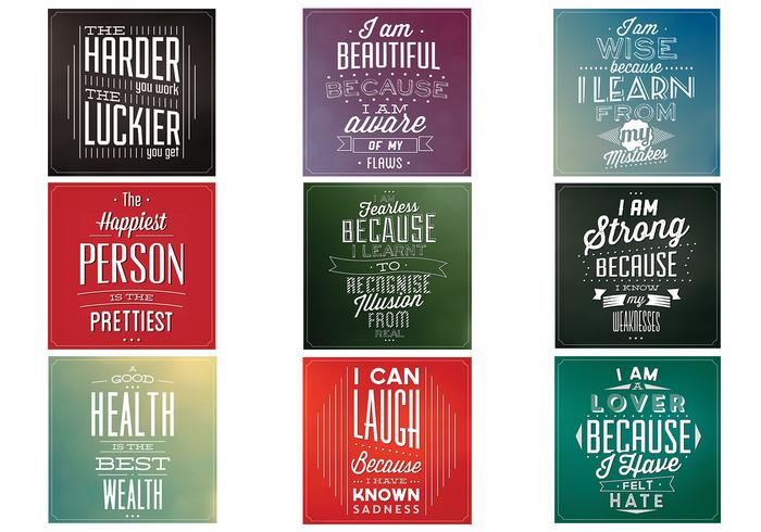 Cotation motivationnelle psd background pack