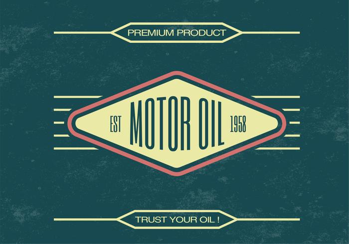 Vintage Motor Oil PSD Background