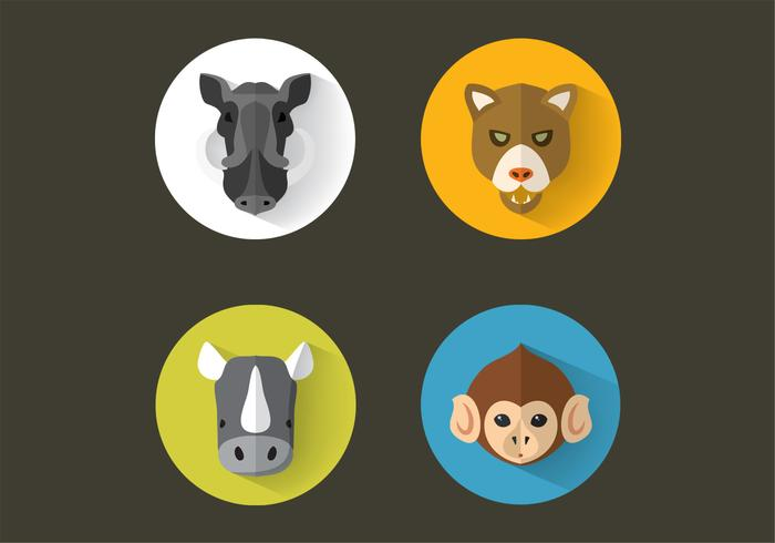 Pack de portraits de PSD animal