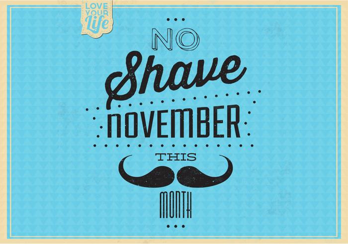 Vintage No Shave November PSD Background
