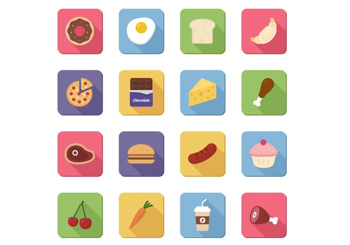 16 Food Icons PSD Pack
