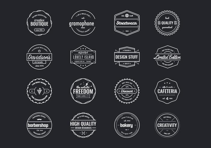 Vintage badges psd collectie