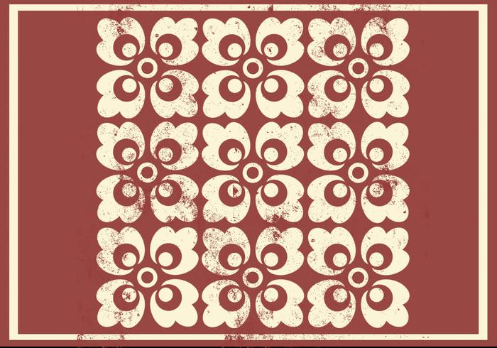 Grungy Floral Ornament Photoshop Pattern