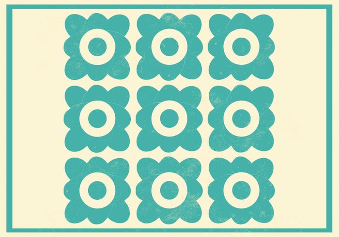 Teal Floral Photoshop Pattern