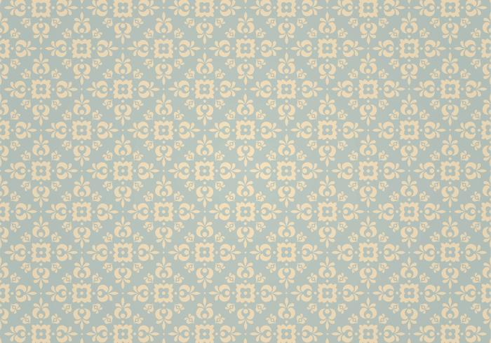 Blue Vintage Ornament Pattern do Photoshop