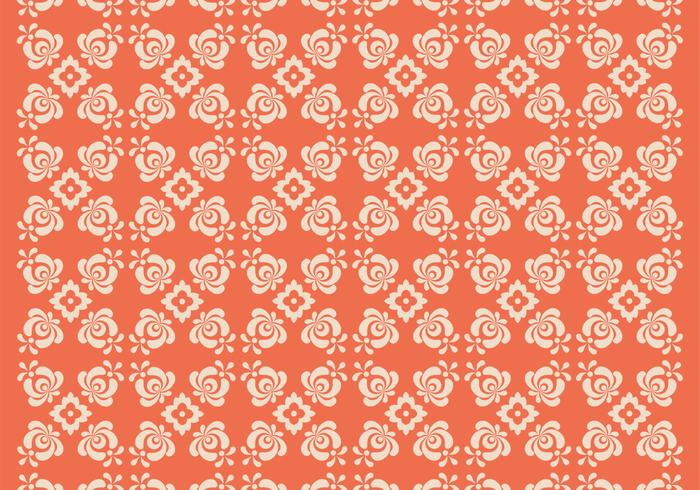 Orange Floral Photoshop Muster Zwei