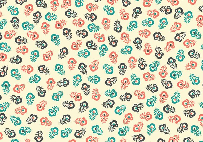 Retro Floral PSD Background