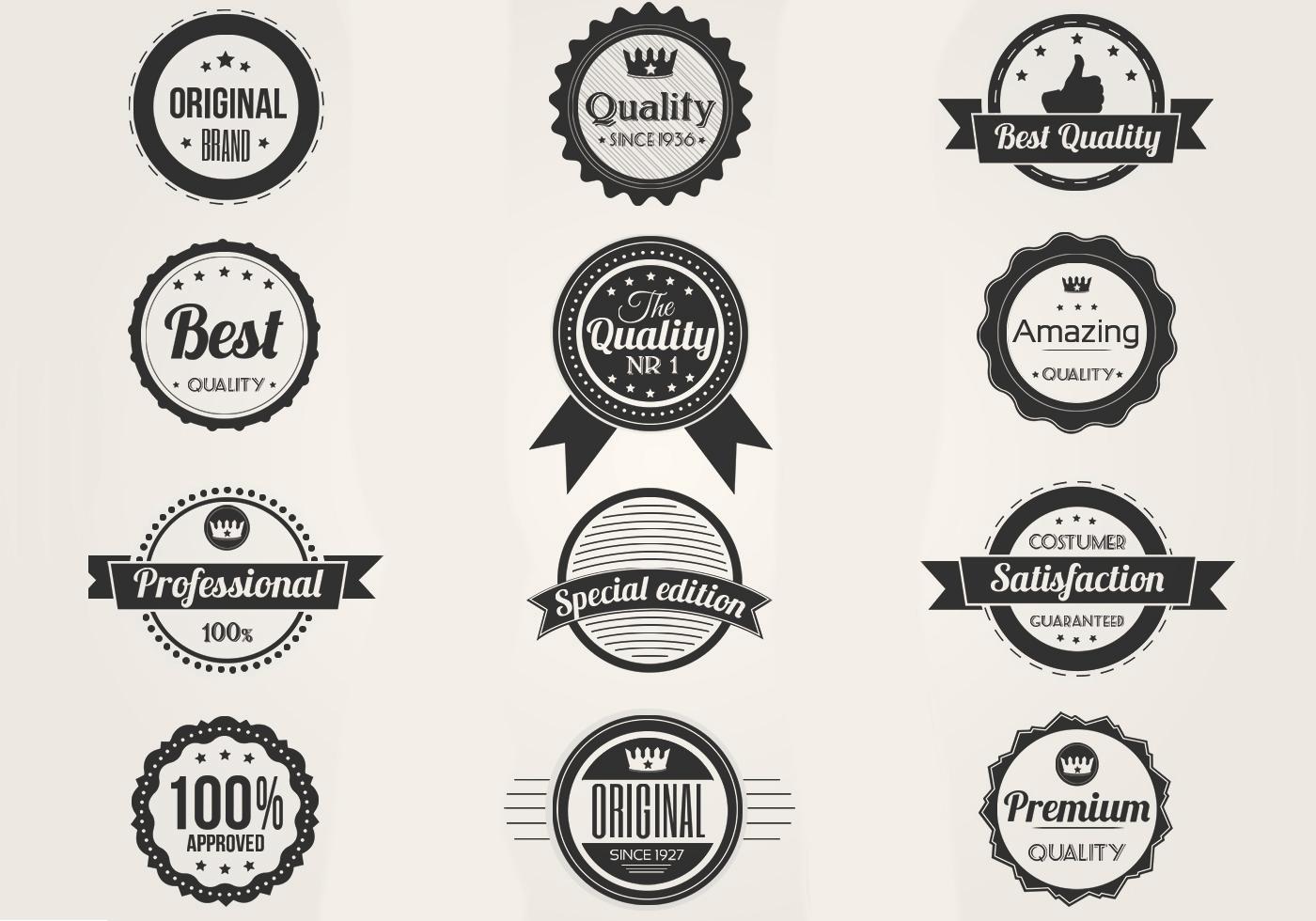 Black E White Premium Badges Conjunto Psd Pinc 233 Is De