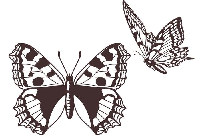 Escovas de borboleta gratuitas