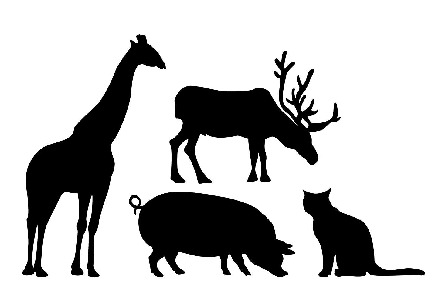 free animal silhouettes