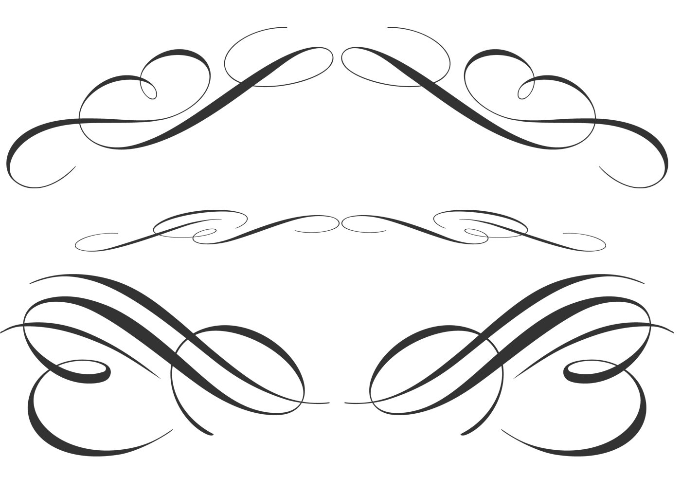 free calligraphic ornament brushes free photoshop