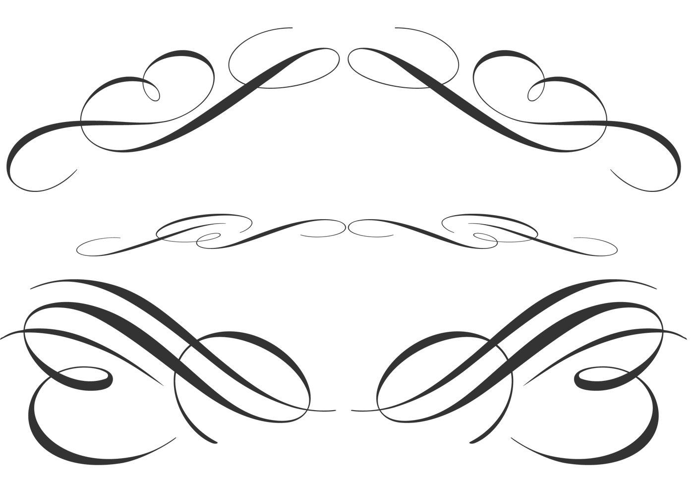 Free calligraphic ornament brushes photoshop