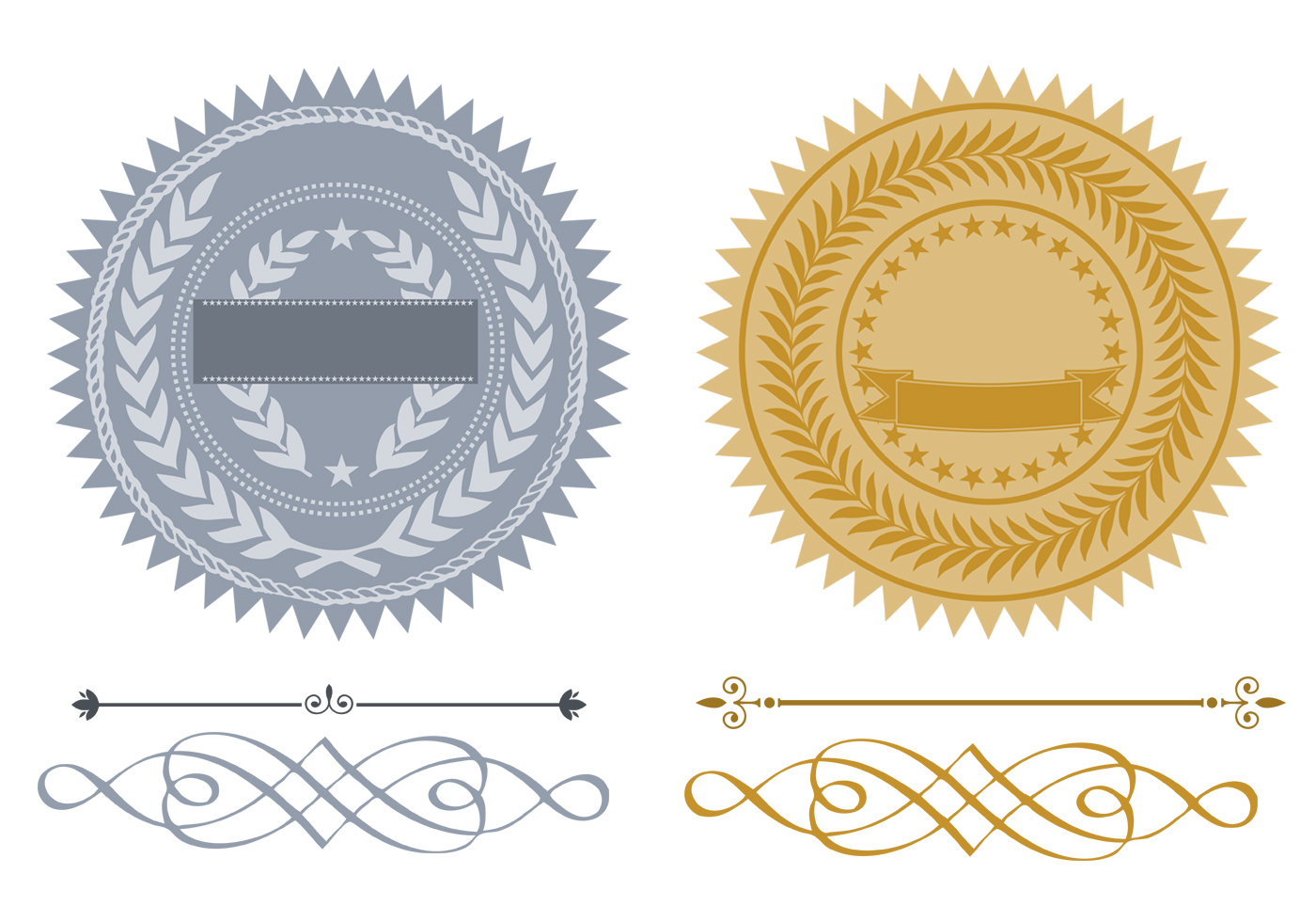 free certificate and seals pack free photoshop brushes