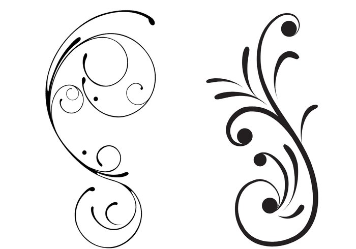 Free Swirly Floral Scrolls Brushes Free Photoshop