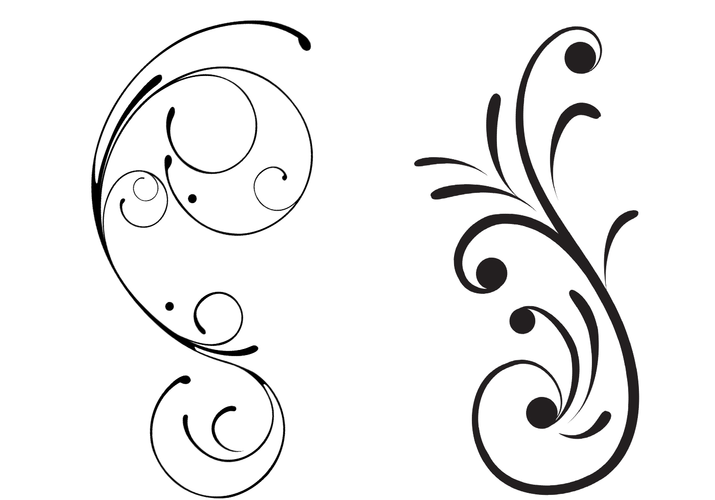 free swirly floral scrolls brushes free photoshop brushes at brusheezy. Black Bedroom Furniture Sets. Home Design Ideas
