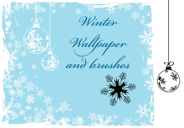 Free Christmas und Winter Wallpaper und Pinsel