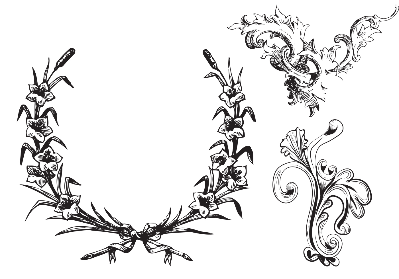 free leafy frames and ornament brushes
