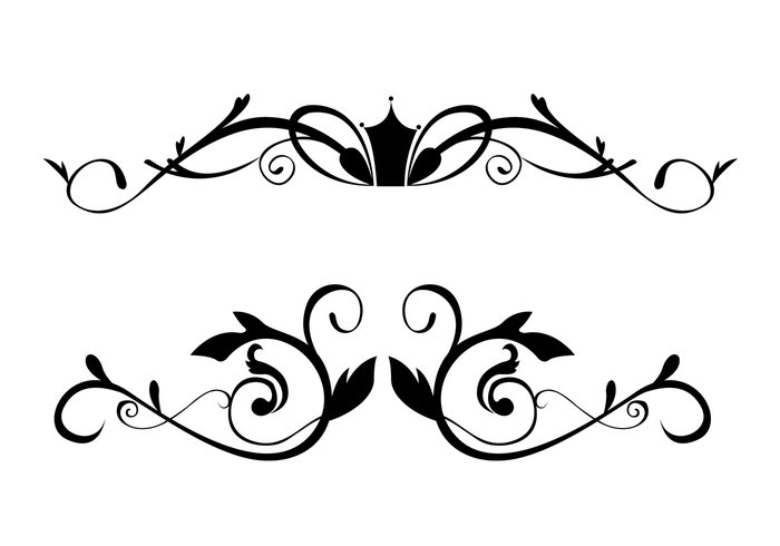 Decorative Text Box Borders Glamorous Free Floral Ornamental Border Brushes  Free Photoshop Brushes At Review