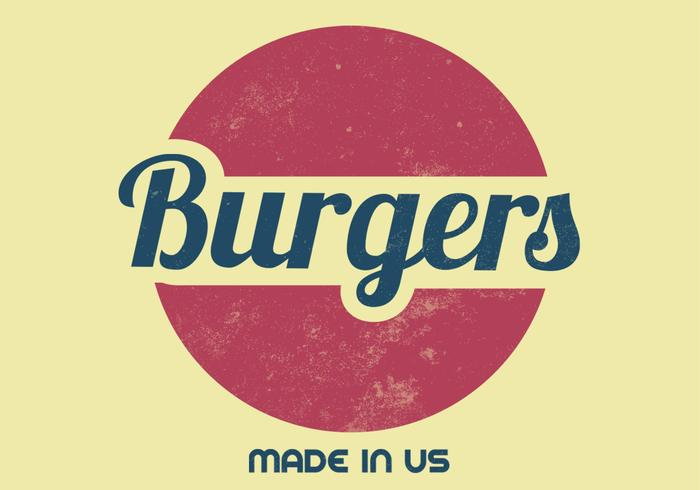 Rétro Burger PSD Sign