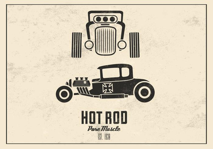 Retro Hot Rod PSD Hintergrund