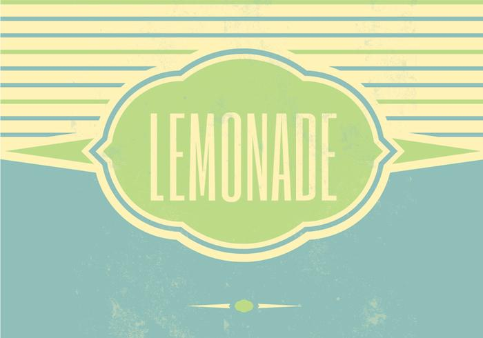 Retro Lemonade Vector Background