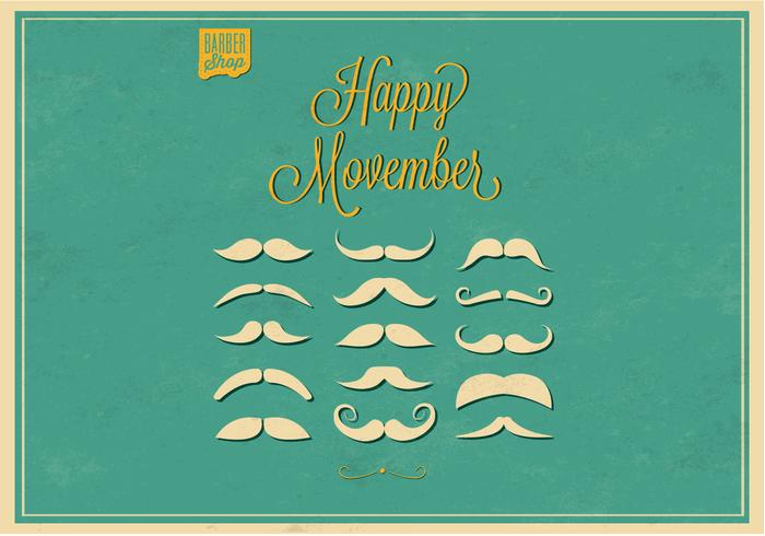 No Shave Movember Bigotes PSD Set