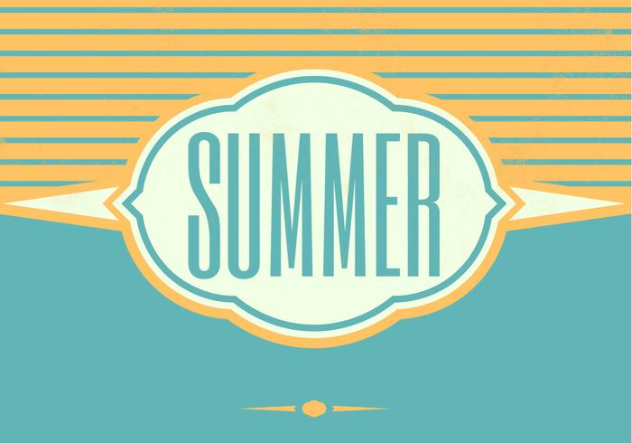 Retro Summer PSD Background