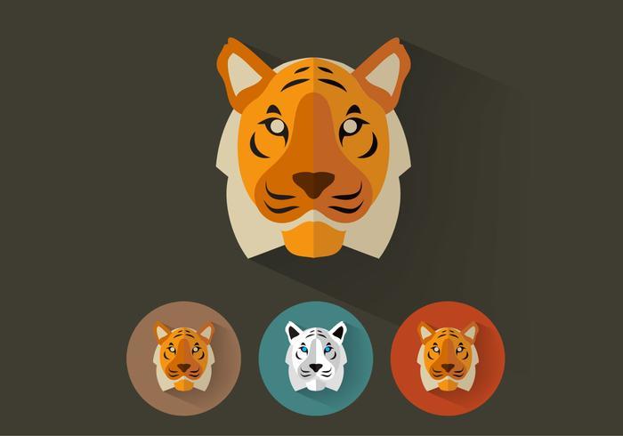 Portraits de tigre psd