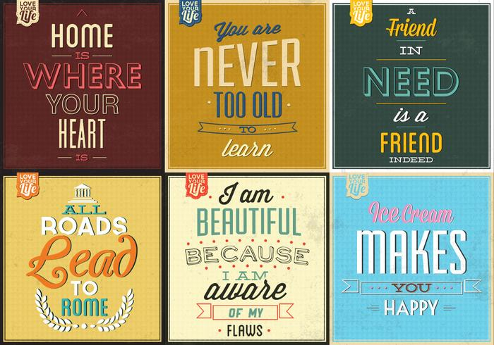 Retro Typografisch Poster PSD Pack