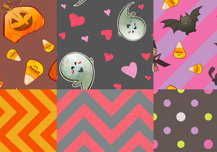 Happy Little Halloween Patterns | Free Photoshop Patterns at ...