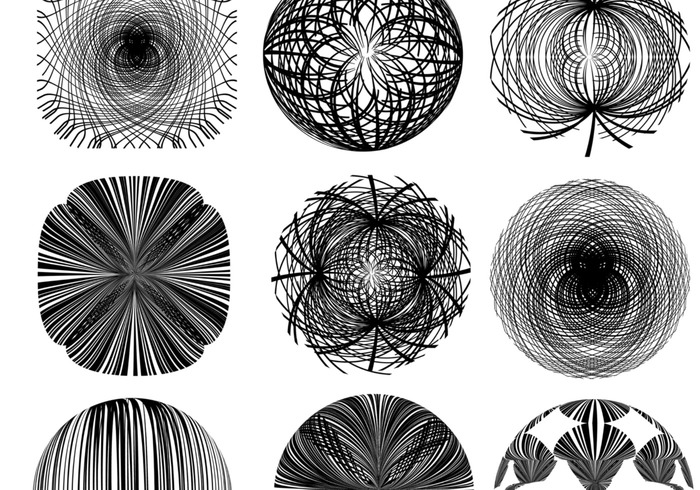 Turn Abstract Line Brushes