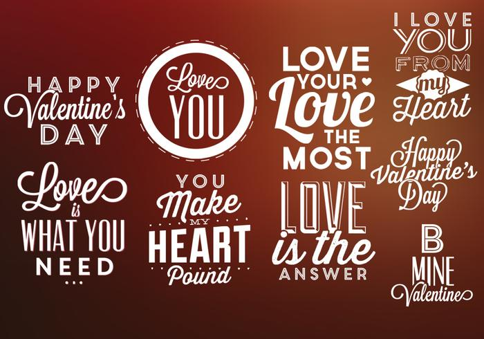 Valentine's Day Labels PSD Pack