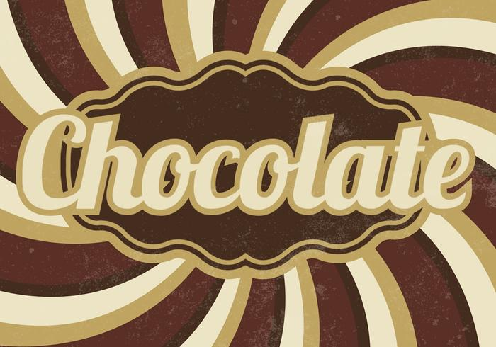 Vintage Chocolate Sunburst PSD Background