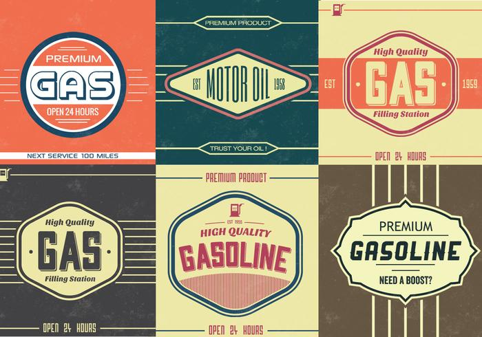 Vintage Gasolina Sign PDS Pack