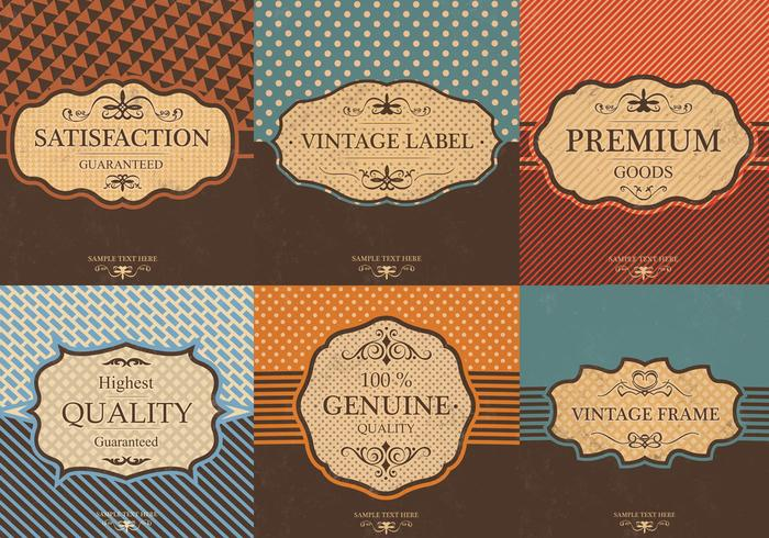 Etiqueta vintage do pacote psd background