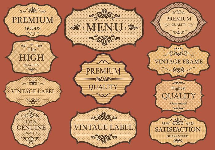 Vintage Labels PSD Set