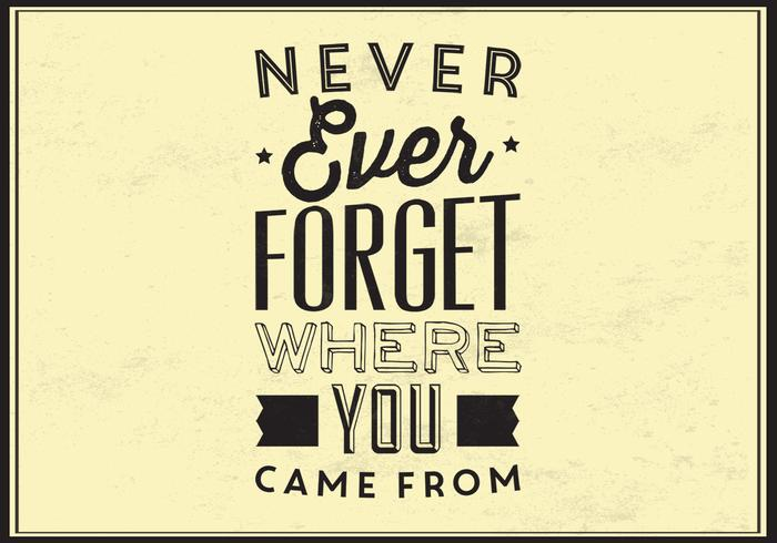 Never Forget PSD Typographic Poster