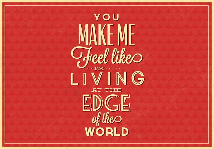 Affiche typographique PSD de Living on the Edge